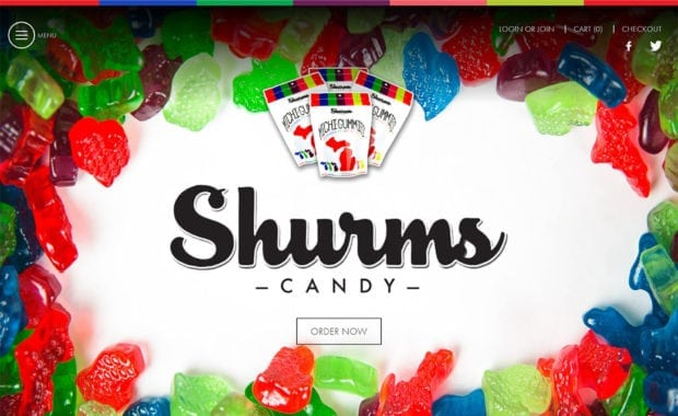 Shurms Candy Homepage